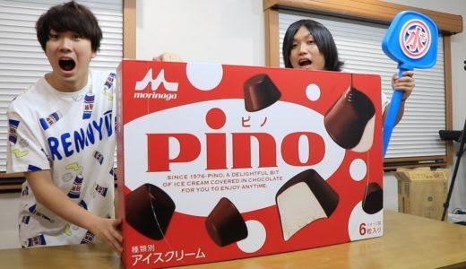 【大食い】超巨大ピノ(50箱分)を丸一日かけて食べてみた!!