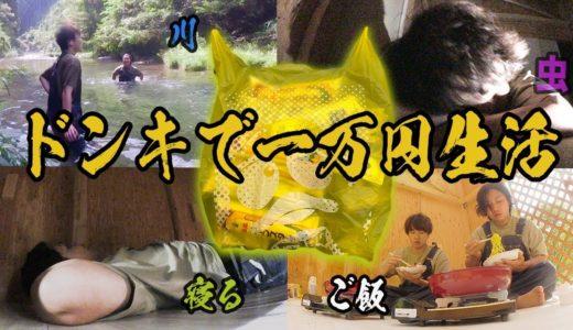 【1万円企画】ドンキで買ったものだけで村生活が過酷すぎた!!