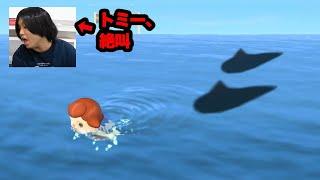 【新要素】素潜り中にサメ捕まえてても気づけない説www【どうぶつの森】